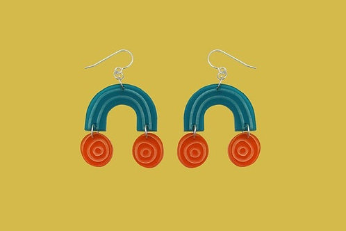 Sweetie Dangle Earrings - Teal
