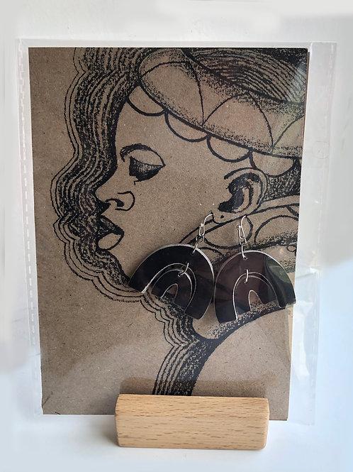 Handmade paper earrings - Black