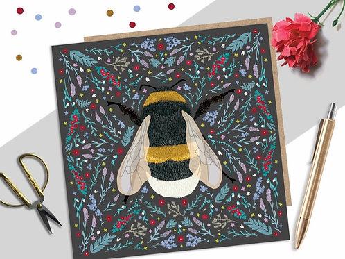Folk Bumble Bee Card
