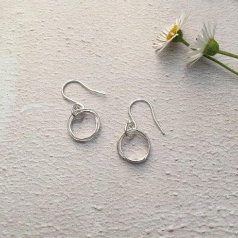 Silver wire wrap earrings