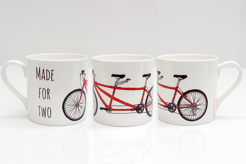 Tandem Bone China Mug