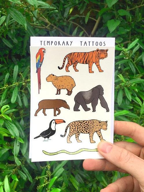 Jungle animal tattoos