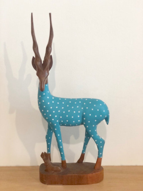 Blue & White Polka Gazelle