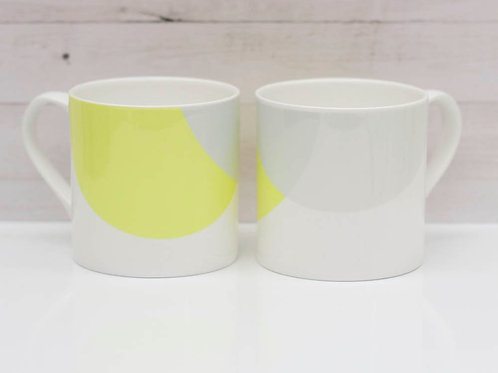 Lime | Grey Dip Bone China Mug
