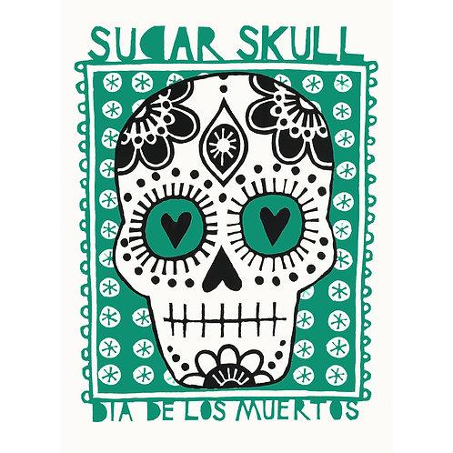 Sugar Skull Print- A3