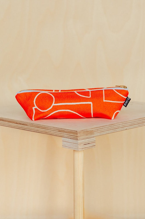 Red Line Red pencil case