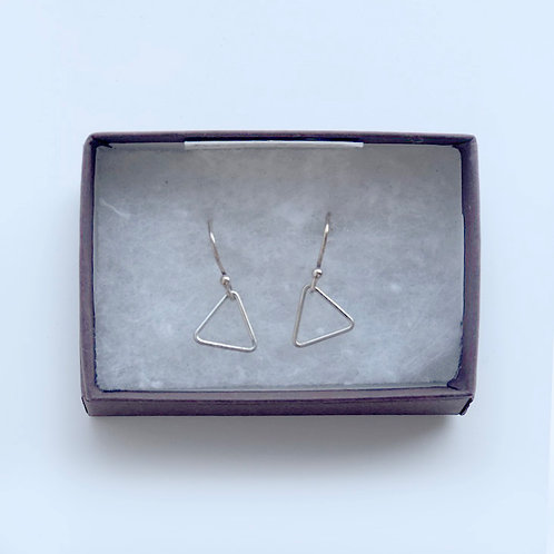 Silver mini Triangle Earrings