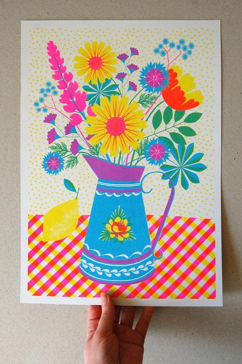 Summer Blooms Print - A3