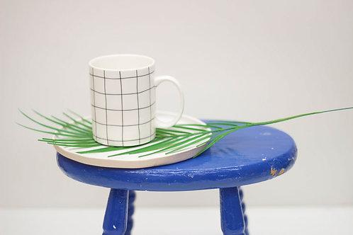 Grid Porcelain Mug