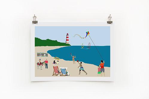 Beach A4 Print