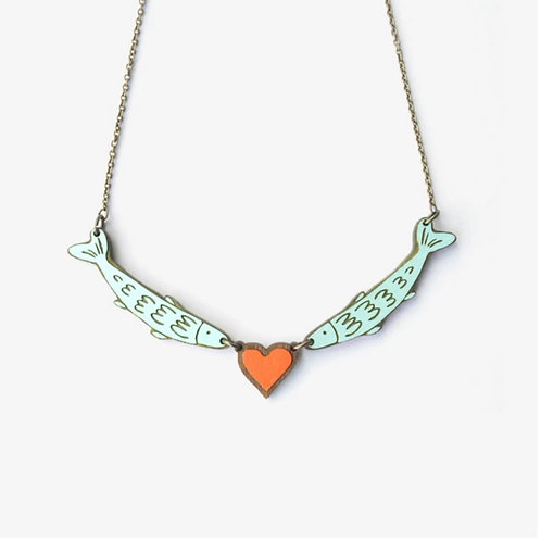 Love Fish Necklace