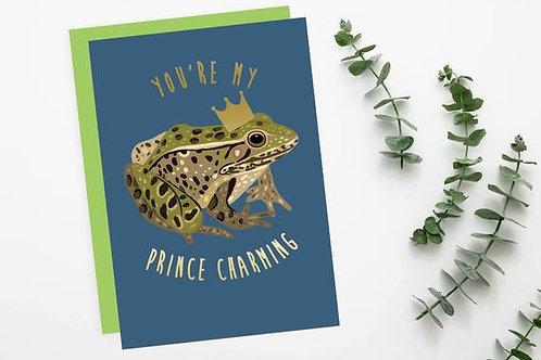 Prince Charming frog Card