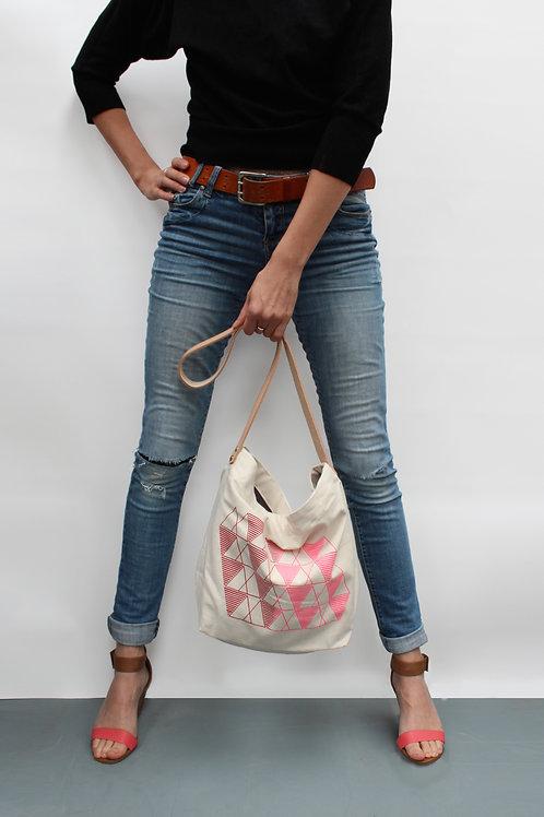 Red\Pink Design Organic Cotton Handbag