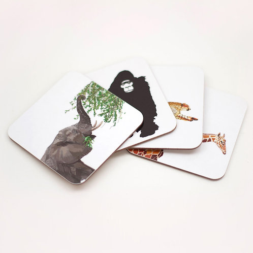 Set of Africa Coasters
