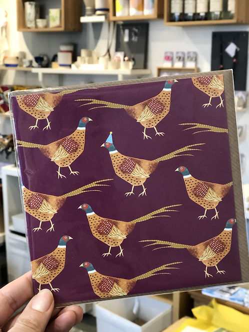 Pheasant with hat Card