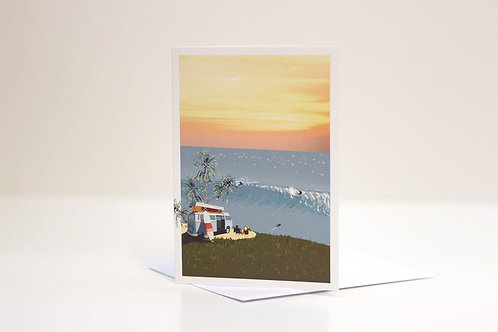 Weekend Explorer - Surf Greetings Card