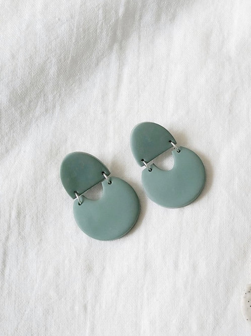 Teal Geometric Earrings