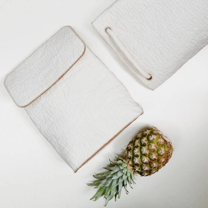 [Leather alternatives made from pinapple skin via Haeckels https://haeckels.co.uk/journal/leather-alternatives/]