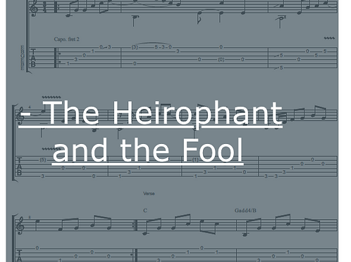 The Hierophant and the Fool