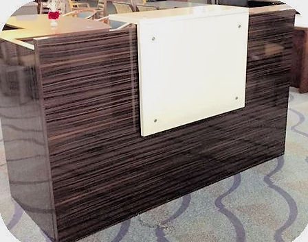 Coffee reception desk 72""