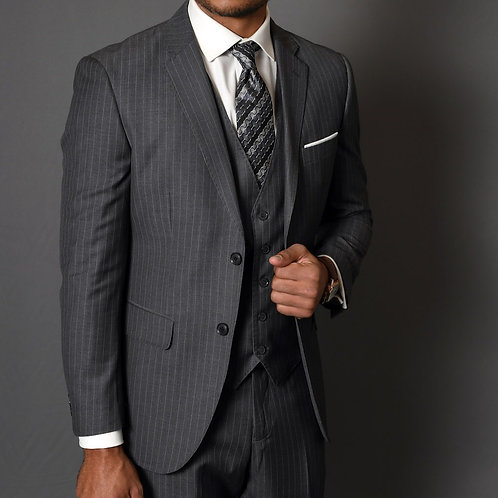 Charcoal Pinstripe Suit