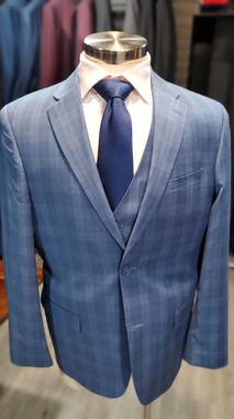 Blue Glenplaid 3 Piece Suit