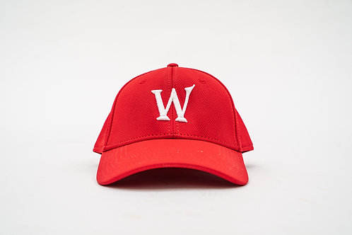 "Red Flex-Fit ""William Wilson W"" Cap"