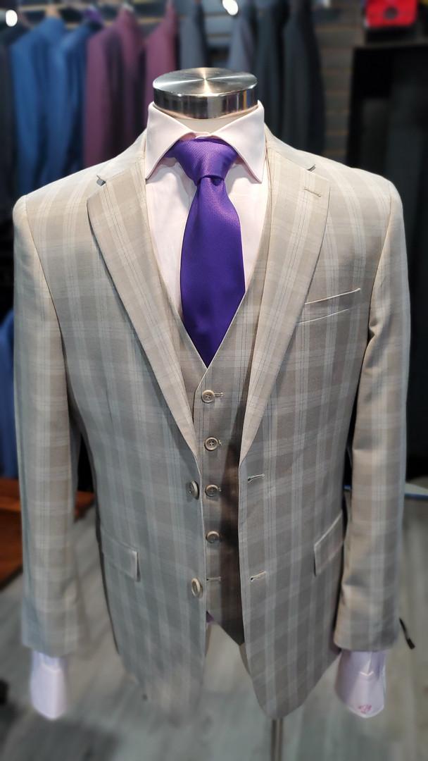 Tan Glenplaid Suits