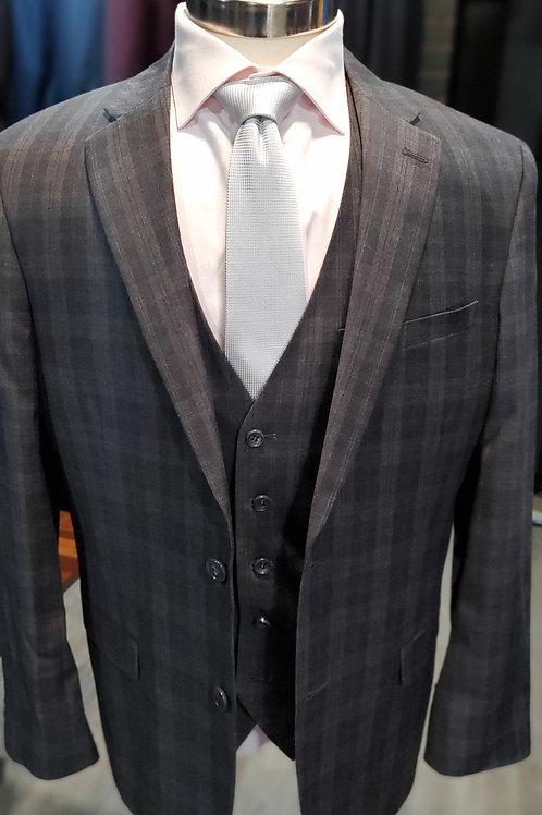 Grey Plaid Suit