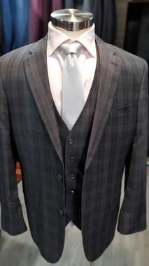 Grey Glenplaid 3 Piece Suit