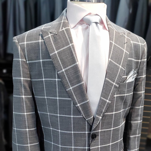 Black Windowpane Suit