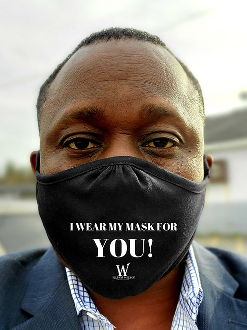 """William Wilson """"I Wear My Mask For You"""" Face Mask"""