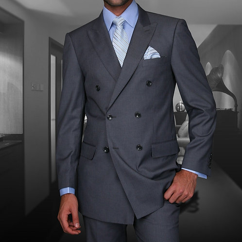 Charcoal Double-Breasted Suit