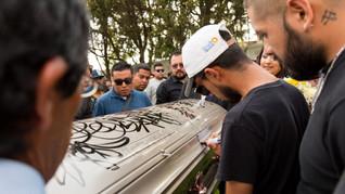 Enterrement de Plop, dommage collatéral lié au narcotrafic