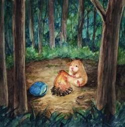 ハムスターと夜の森