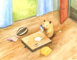 昼下がりのハムスター