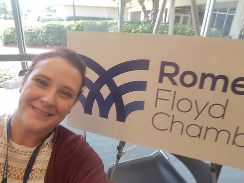 Moriah Medina Volunteering with the Rome Floyd Chamber