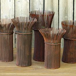 Candle Holders Bronze Metal Pillars