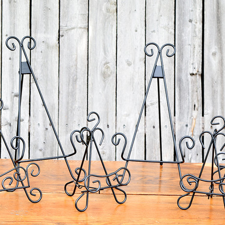 Black Iron Table Easels