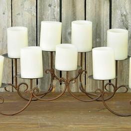 Bronze 9 Pillar Candle Holder
