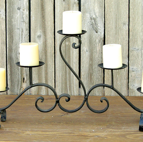 Black 5 Pillar Candle Holder
