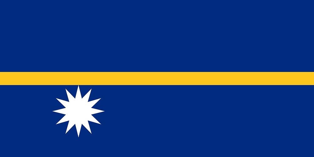 Flag of Nauru - a privatised jail masquerading as a sovereign nation?