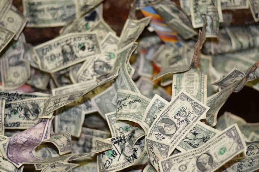Dollarscheine für die Rendite.