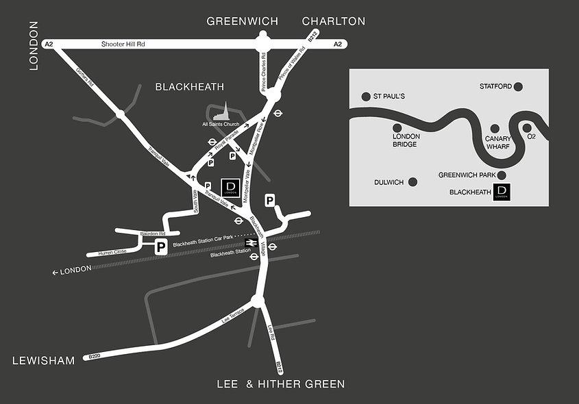 Devernois London Blackheath Map