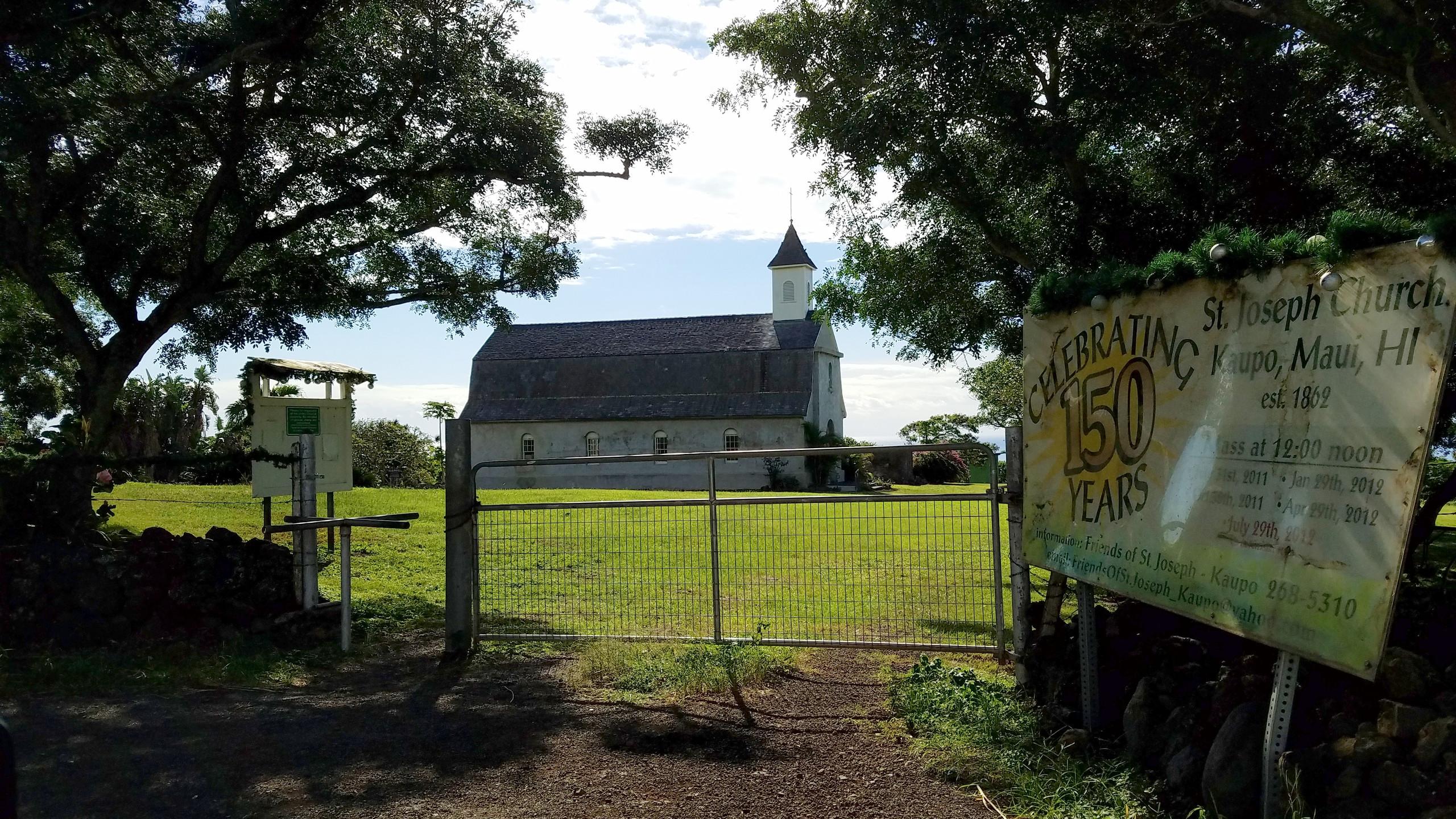 A church on the south end of Maui