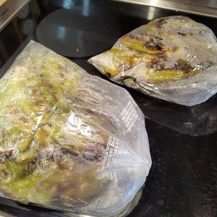 Let them steam in a plastic bag for at least 15 minutes.