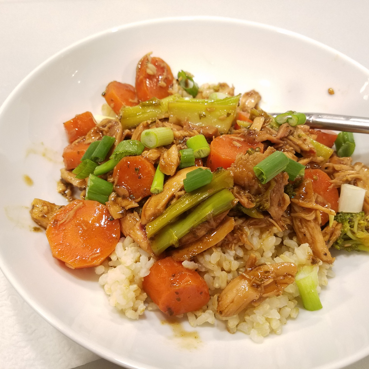 Smoked Pulled Chicken Stir-fry