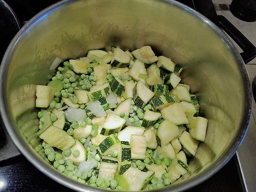 Zucchini Pea Soup Recipe