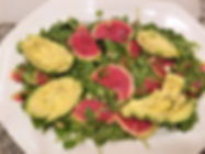 Watermelon Radish & Avocado Salad with Honey Mustard Vinaigrette