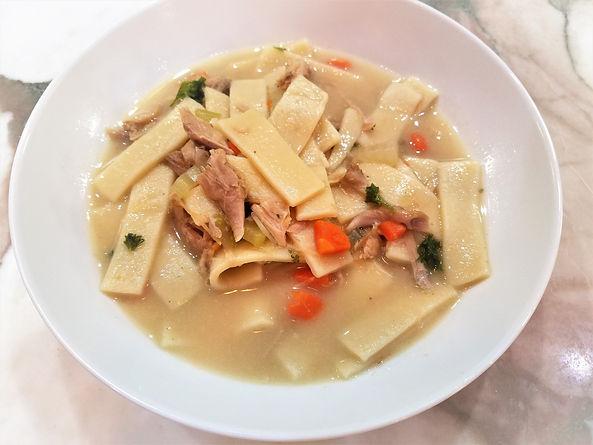 Turkey Noodles | Home made Noodles | Noodle Dumplings with Turkey | Leftover Turkey Recipe